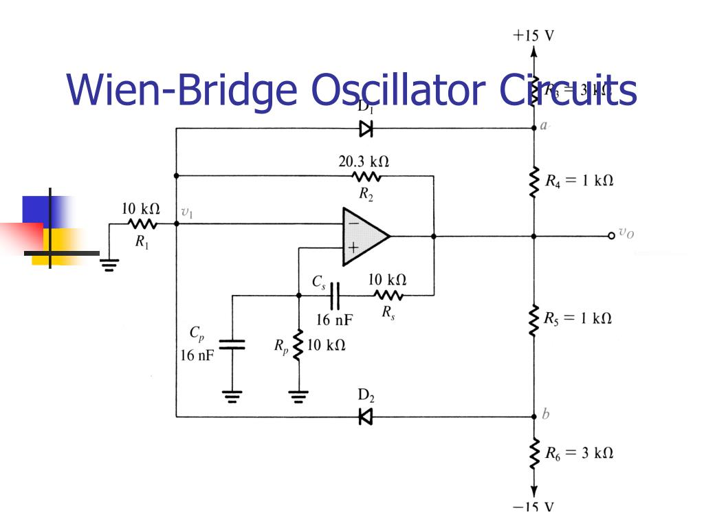 wien bridge oscillator circuits l.