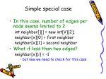 simple special case