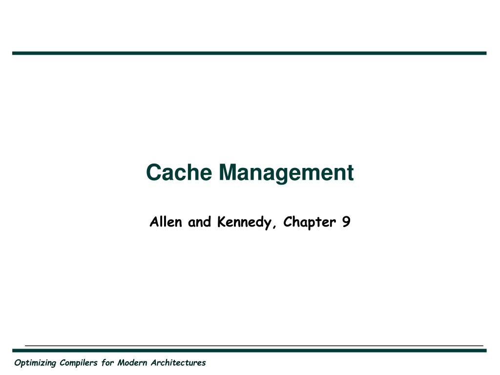 cache management l.