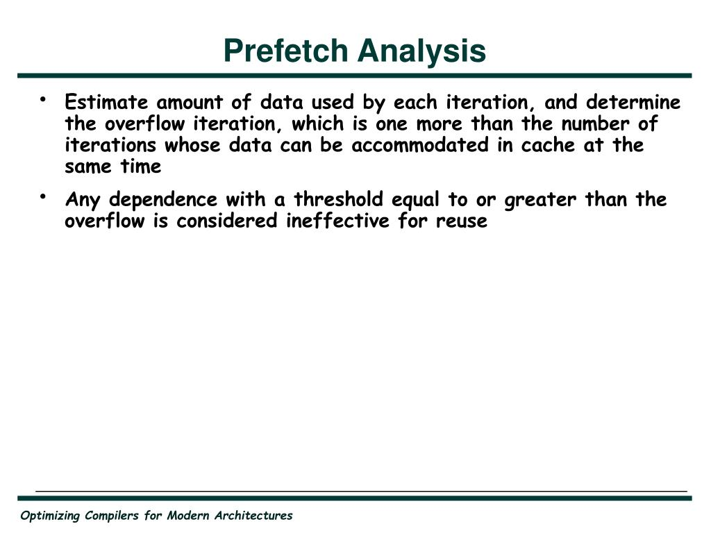 Prefetch Analysis
