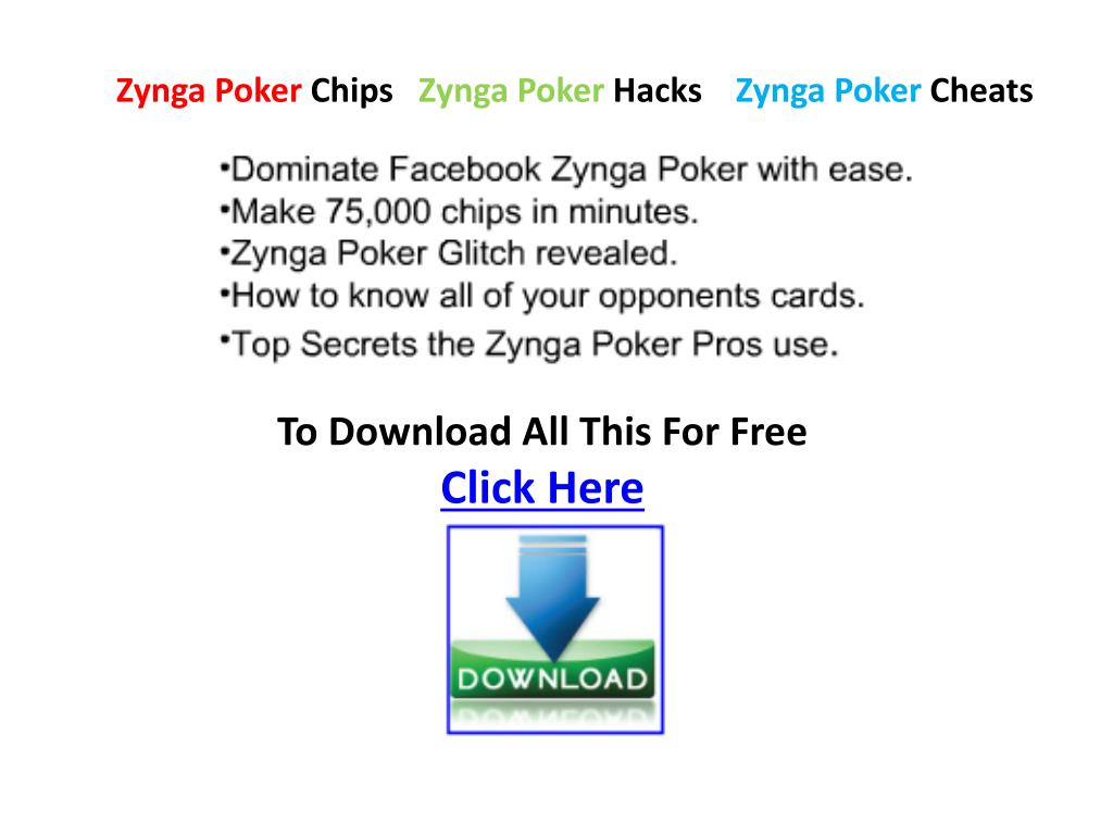 zynga poker chips zynga poker hacks zynga poker cheats l.