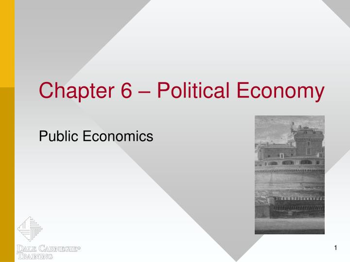 chapter 6 political economy n.