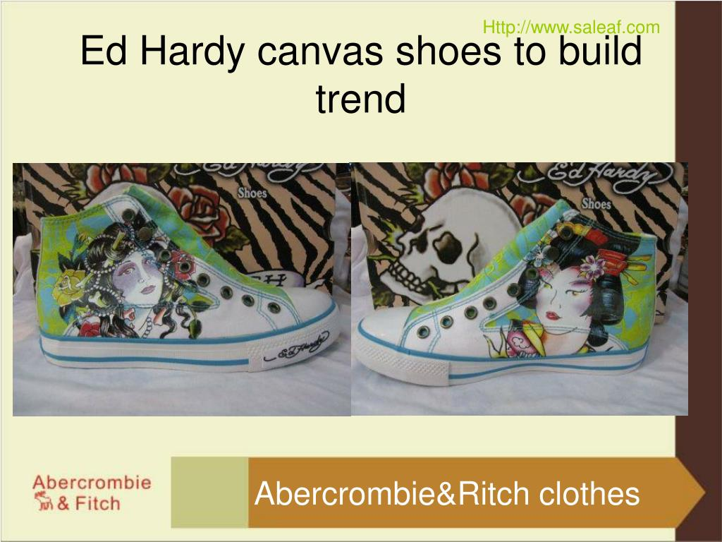 ed hardy canvas shoes to build trend l.