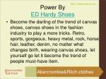 power by ed hardy shoes