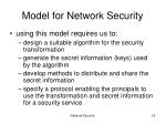 model for network security19