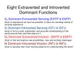 eight extraverted and introverted dominant functions