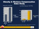obesity workers compensation duke study