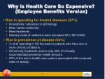 why is health care so expensive employee benefits version