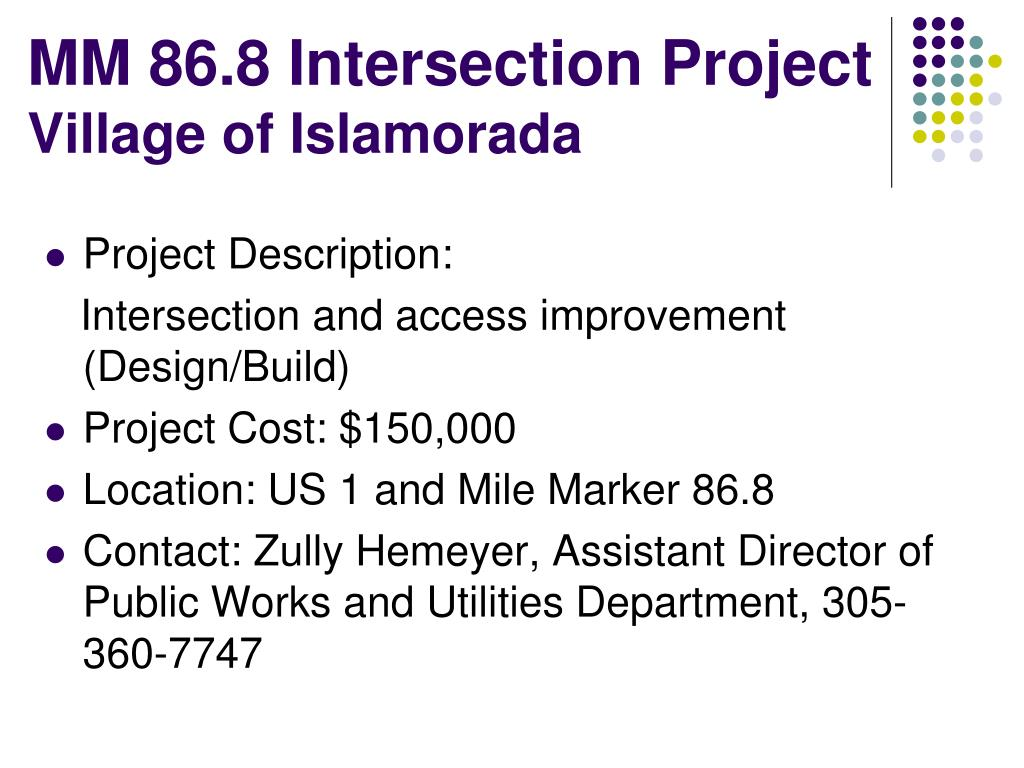 MM 86.8 Intersection Project