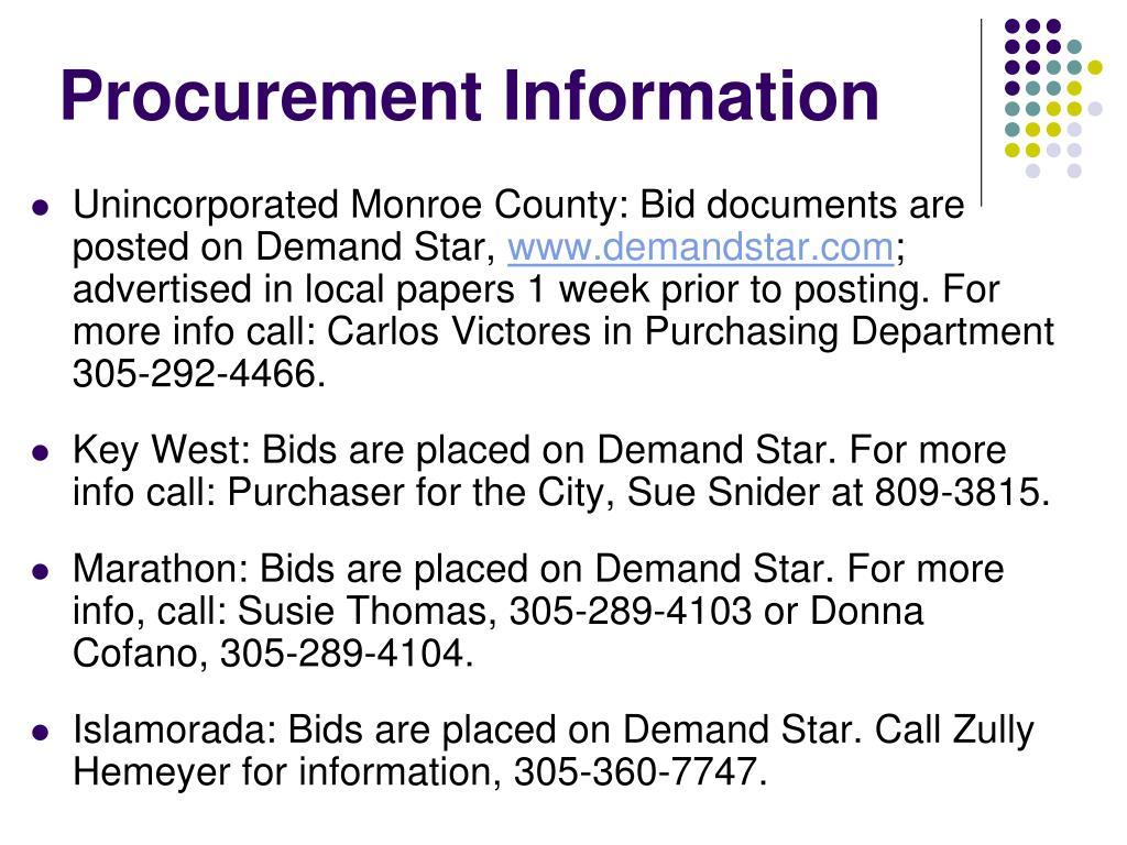 Procurement Information
