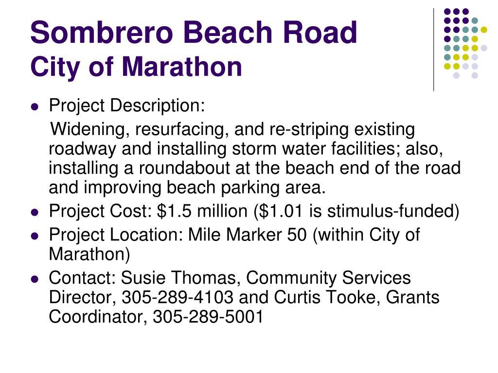 Sombrero Beach Road