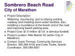 sombrero beach road city of marathon