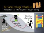 personal change resilience