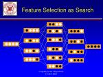 feature selection as search