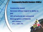 community health centers chcs
