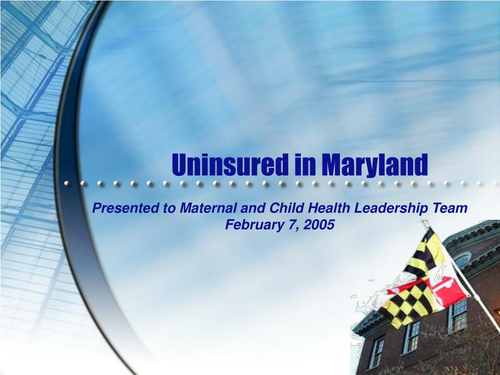 uninsured in maryland l.