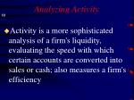 analyzing activity