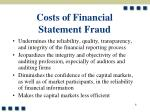 costs of financial statement fraud8