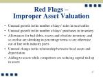 red flags improper asset valuation27