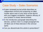 case study sales scenarios74