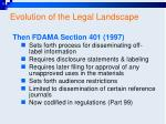 evolution of the legal landscape27