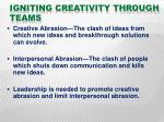 igniting creativity through teams19