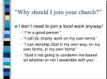 why should i join your church3