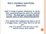 kid s concerns identified empathy