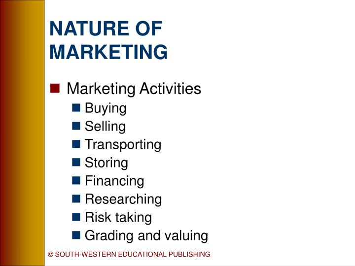 the nature and scope of marketing Title: the nature and scope of marketing created date: 20160811080845z.