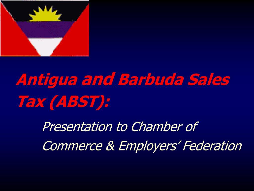 antigua and barbuda sales tax abst l.
