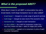 what is the proposed abst