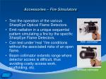 accessories fire simulators