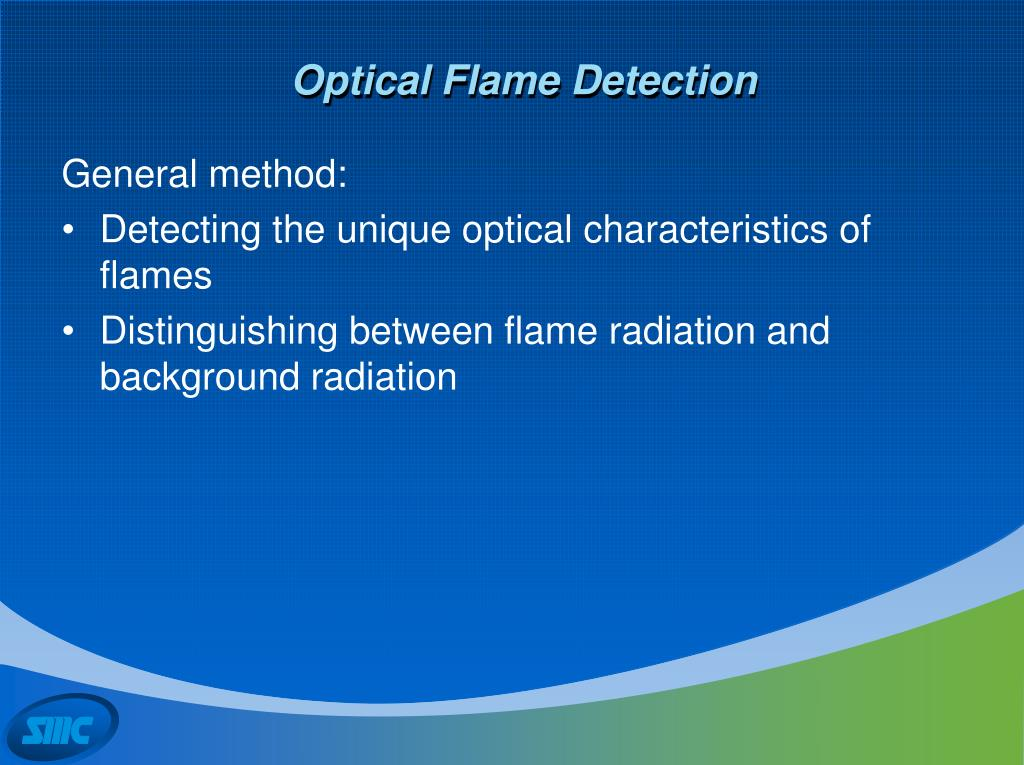 Optical Flame Detection