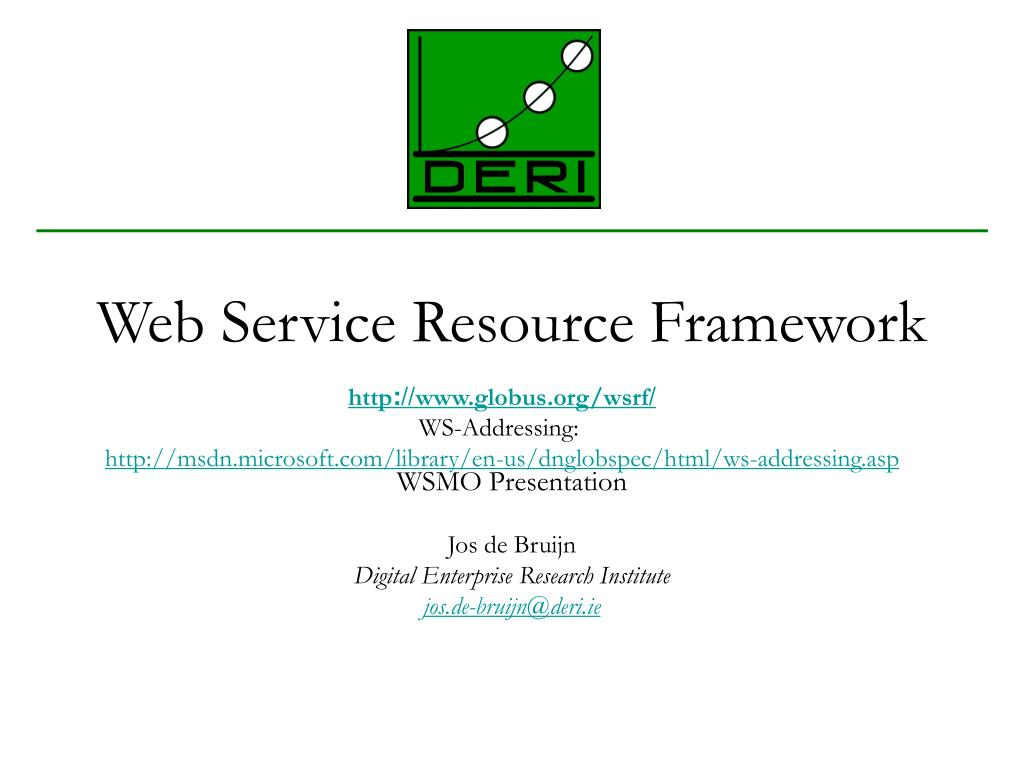 web service resource framework l.