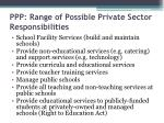 ppp range of possible private sector responsibilities