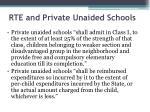 rte and private unaided schools
