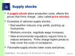 supply shocks
