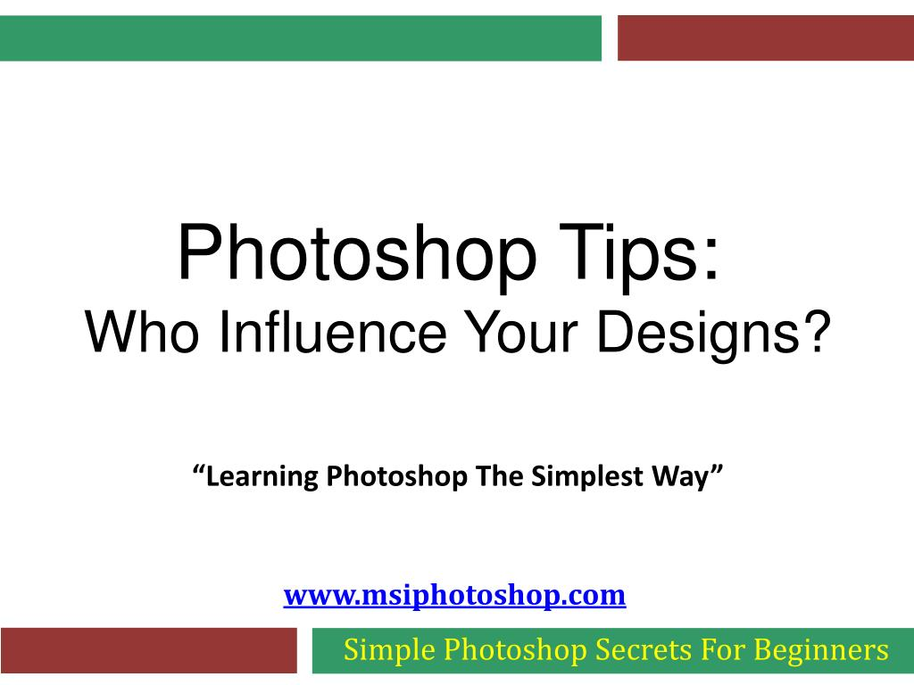 simple photoshop secrets for beginners l.