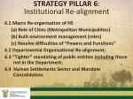 strategy pillar 6 institutional re alignment