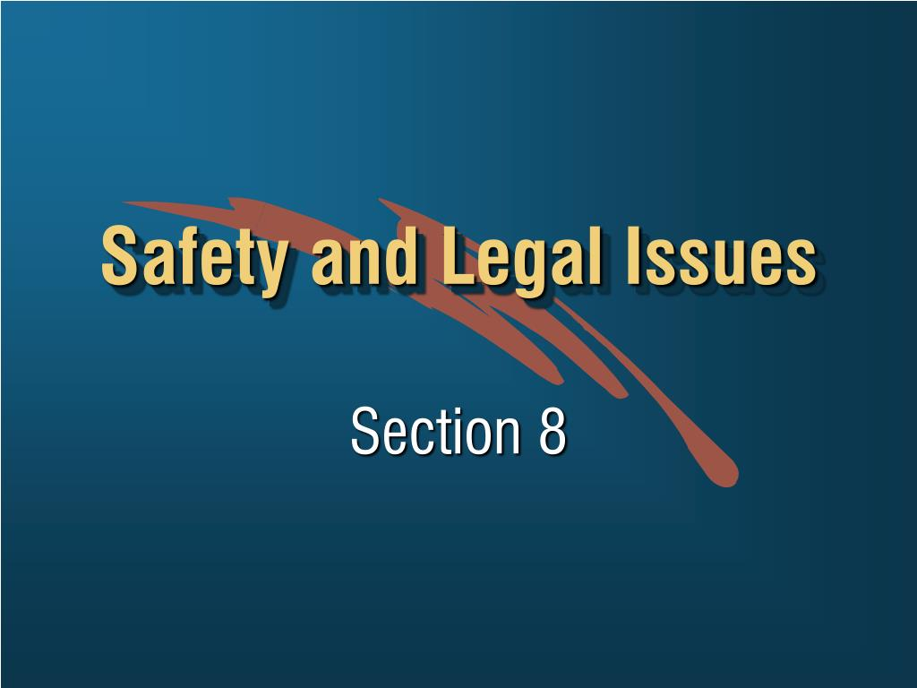 safety and legal issues l.