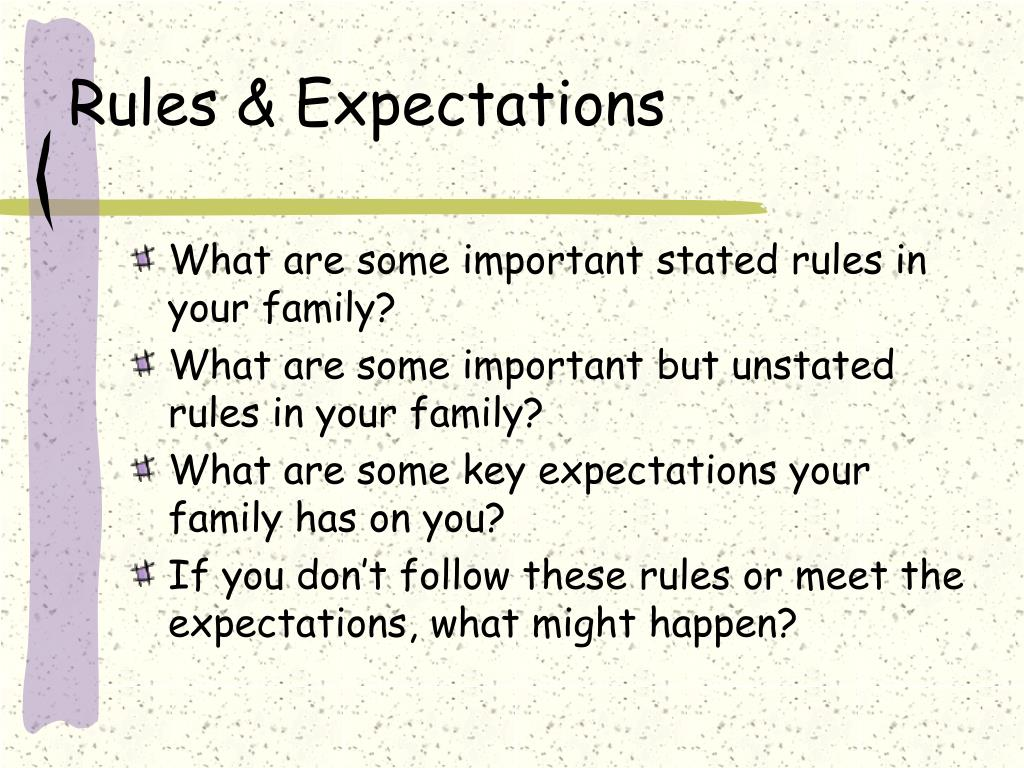 Rules & Expectations