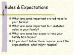 rules expectations