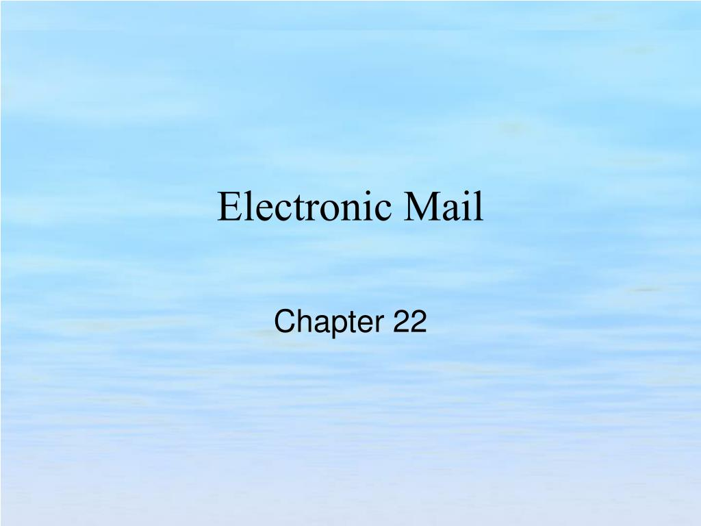 electronic mail l.