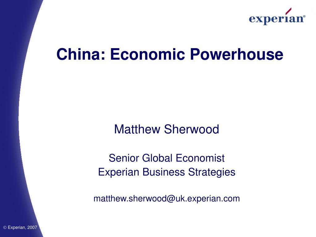 china economic powerhouse l.