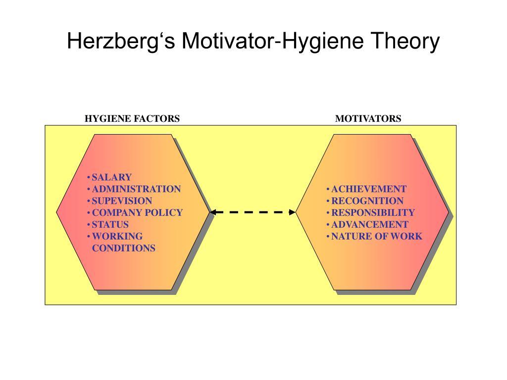 HYGIENE FACTORS                                                               MOTIVATORS