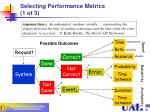 selecting performance metrics 1 of 3