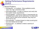 setting performance requirements 2 of 2