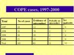 cope cases 1997 2000