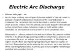 electric arc discharge