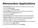 nanocarbon applications